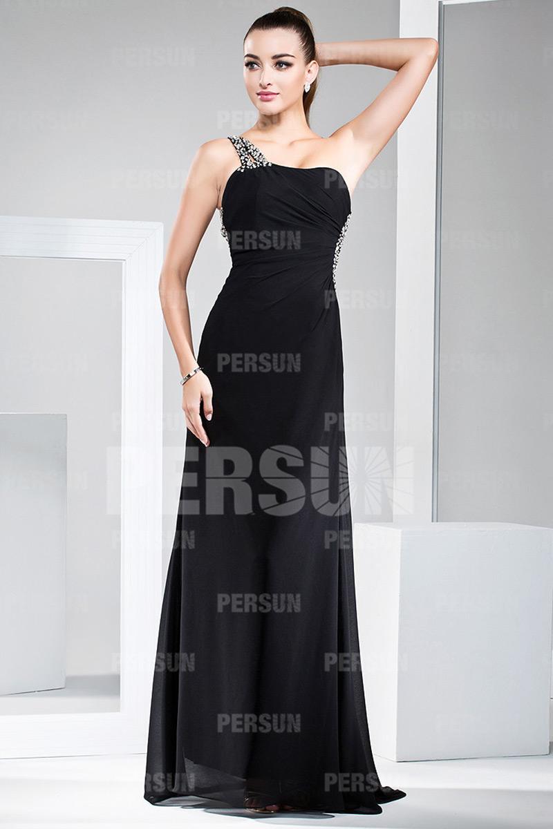Robe de soirée sexy asymétrique