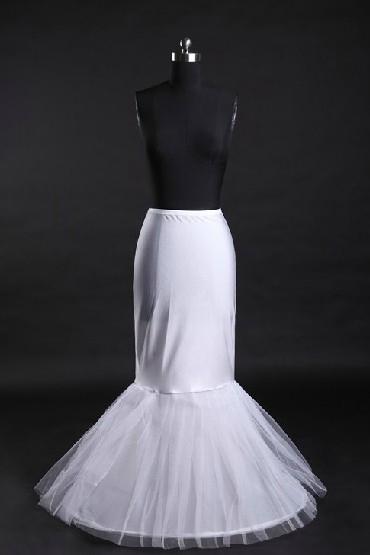 Jupon long pour robes de mariage et soirée sirène trompette en nylon