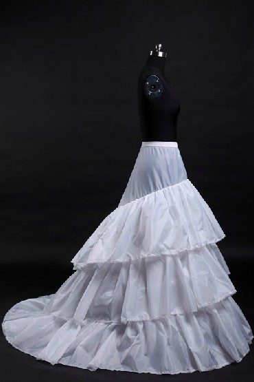 Jupon long pour robes de mariage et soirée 3 cerceaux en nylon et tulle