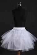Mini jupon pour robes de mariage et soirée 3 cerceaux en nylon et tulle