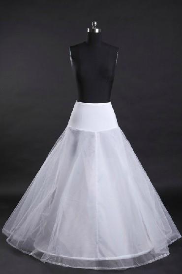 Jupon long pour robes de mariage et soirée ligne A avec un cerceau en bas
