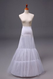 Jupon long pour robes de mariage et soirée trompette en nylon et tulle