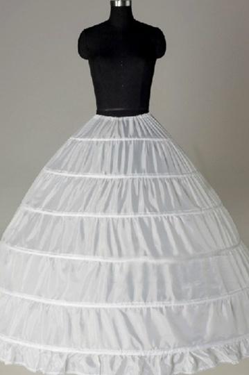 Jupon boule pour robes de mariage princesse en nylon 6 cerceaux