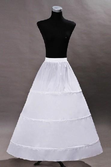 Jupon long en A-ligne pour robes de mariage en nylon