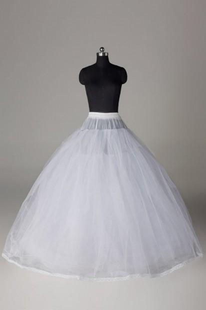 Jupon 3 couches de tulle rigide sans cerceau pour robes de mariage long au sol