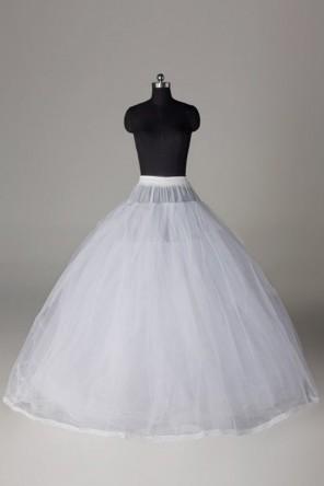 Jupon 2 couches de tulle rigide 3 cerceaux pour robes de mariage princesse
