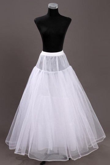 Jupon long au sol pour robes de mariage en satin