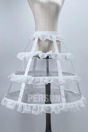 Jupon réglable lolita 3 cerceaux pour robe de mariage et bal