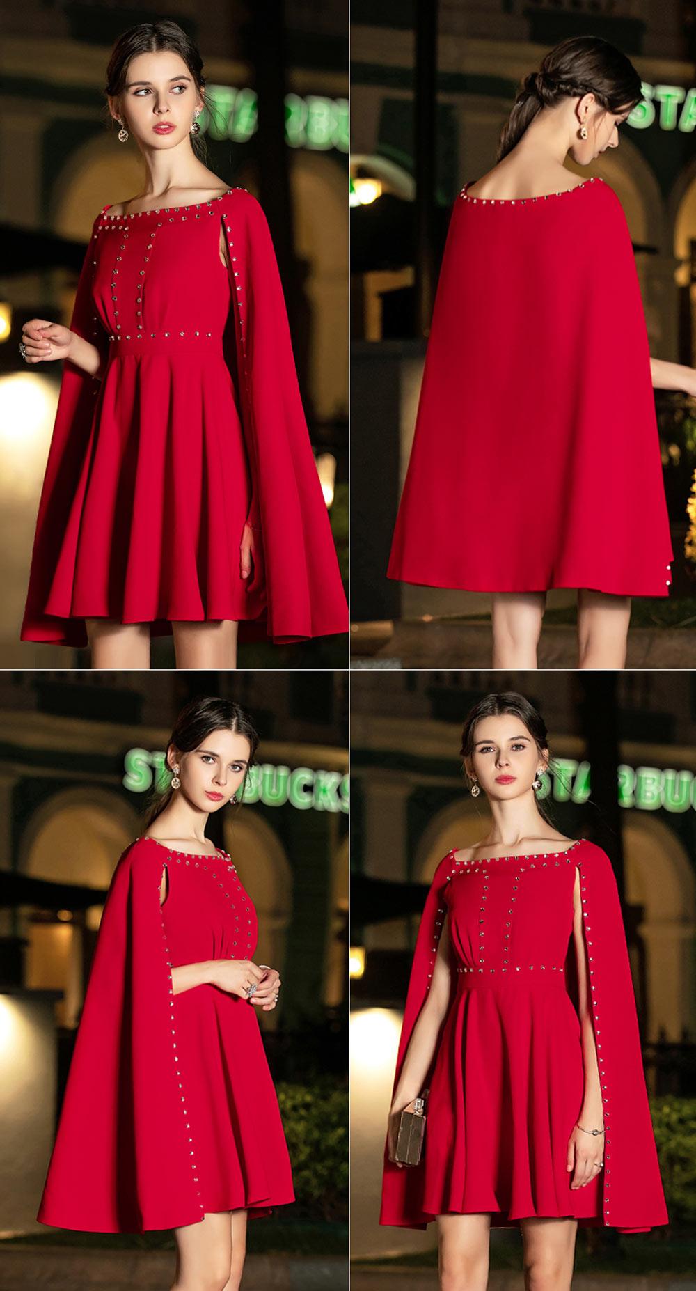 robe courte rouge soirée pour grande taille