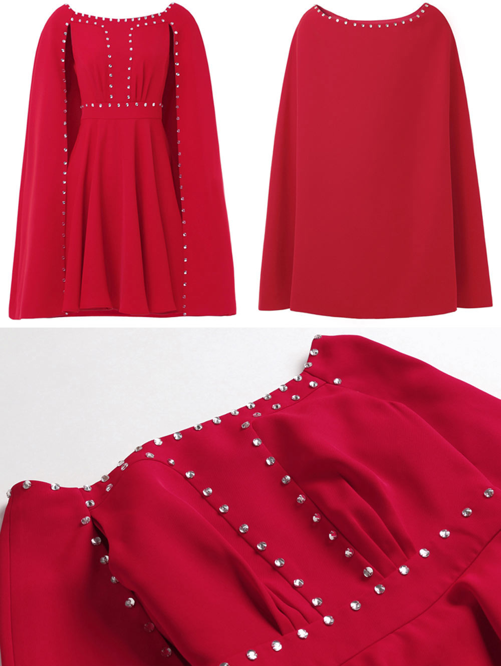 robe chic rouge témoin mariage nouvelle collection