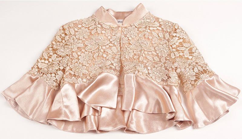 boléro élégante en dentelle pour robe mère