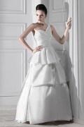 Empire Ballgown Ein Schulter Ärmellos bodenlanges Brautmode aus Satin
