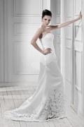 Robe de mariée Fourreau / Colonne avec broderie