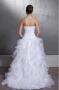 Robe de mariée bustier décolleté en cœur à jupe froufrou