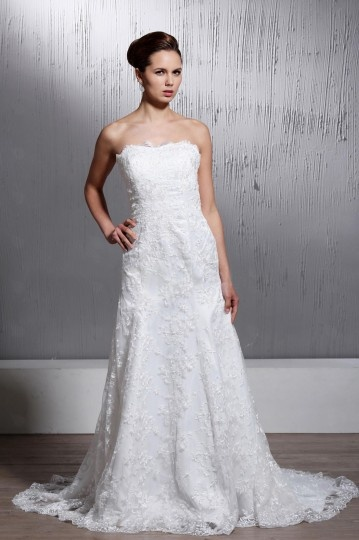 Robe de mariée moderne Sirène sans manche décolleté en cœur