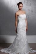 Robe de mariée vintage en dentelle Trompette / Sirène décolleté en cœur