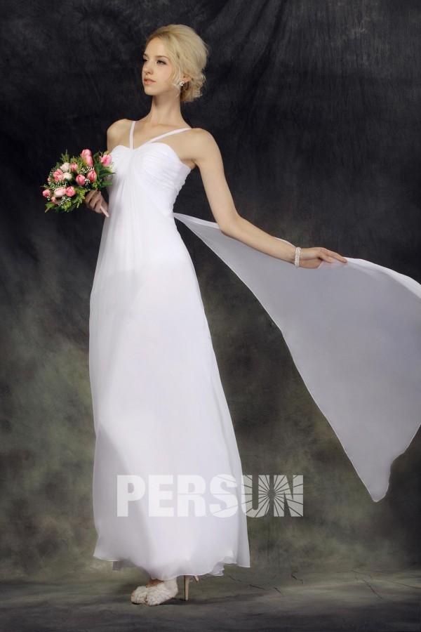 robe mariée simple chic empire en mousseline