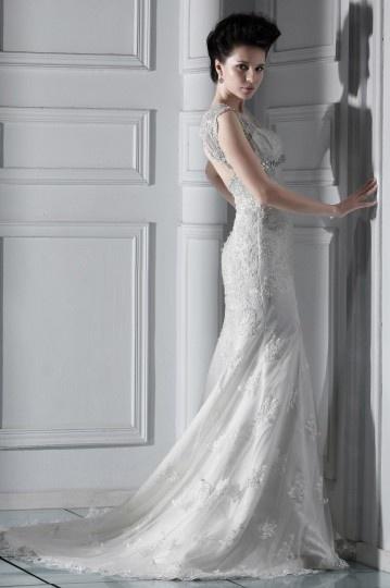 Robe de mariée de luxe en dentelle Trompette