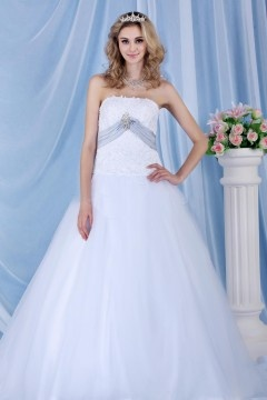 Robe de mariée princesse et bustier avec jupe vaporeuse