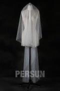 Voile de mariée plumetis court devant long arrière