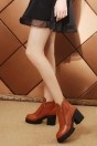 Bottines mode femme à haute plateforme avec zip