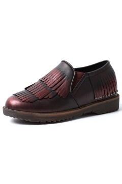 Chaussures de femmes plates à franges style romain