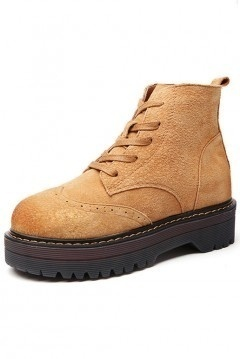 Chaussures de femme simples plate-forme épais