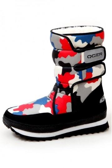 Chaussures de neige chaudes couleur camouflage