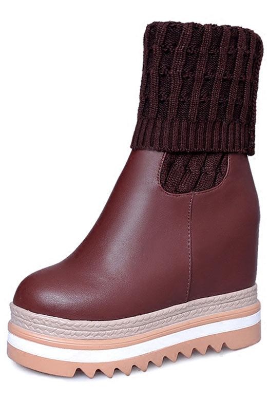 design intemporel 1042a d3a63 Bottines chaussettes avec plate-forme - Persun.fr