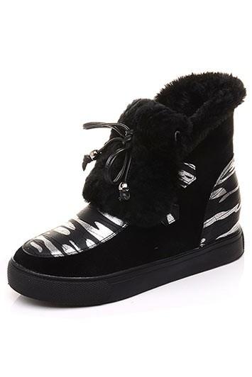 Chaussures de neige femme couleur camouflage