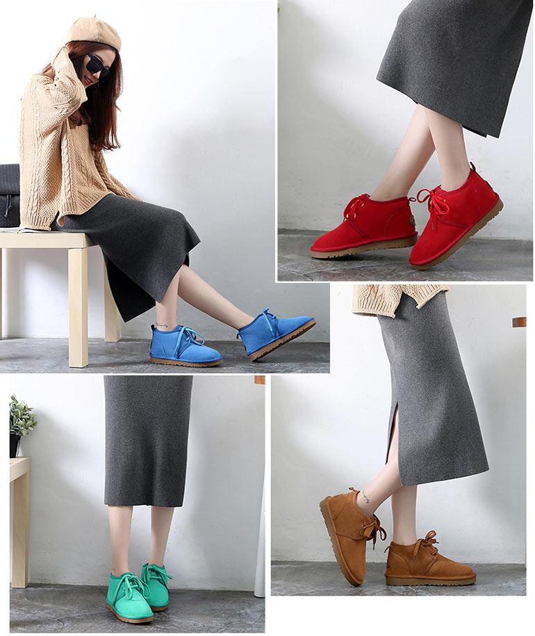 Simples bottes plates hiver pour femmes à laçage croisée livraison gratuite