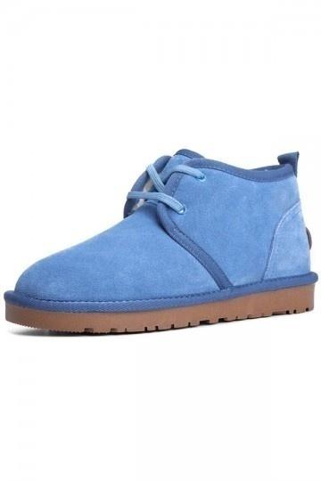 Simples bottes neige plates pour femmes à laçage croisée