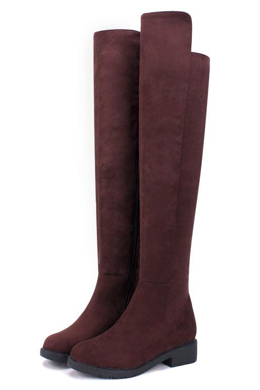 Elégantes bottes longues de femme zippées