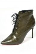Chic bottine femme style richelieu en cuir
