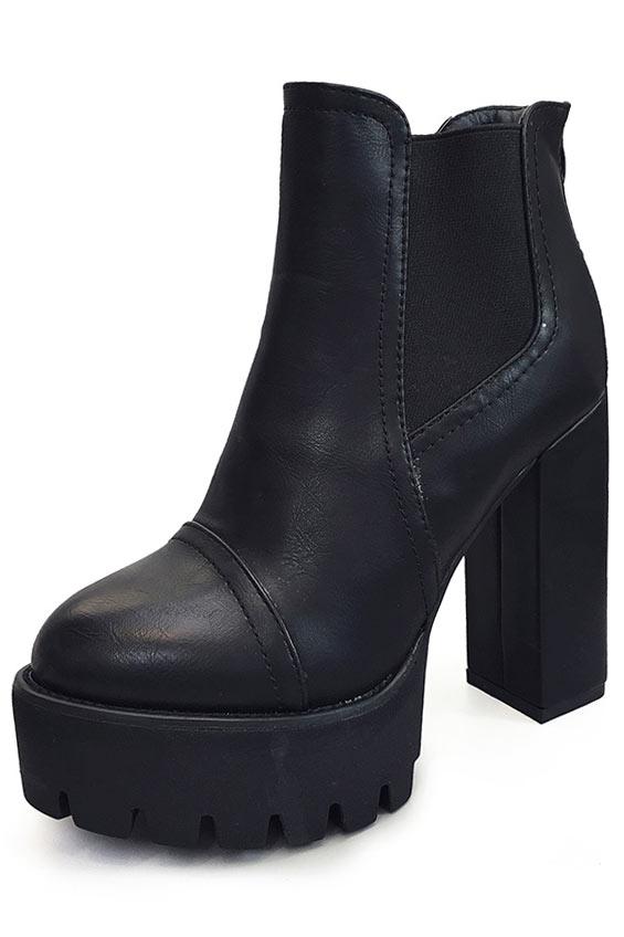 Low boots chelsea talon avec haute plateforme