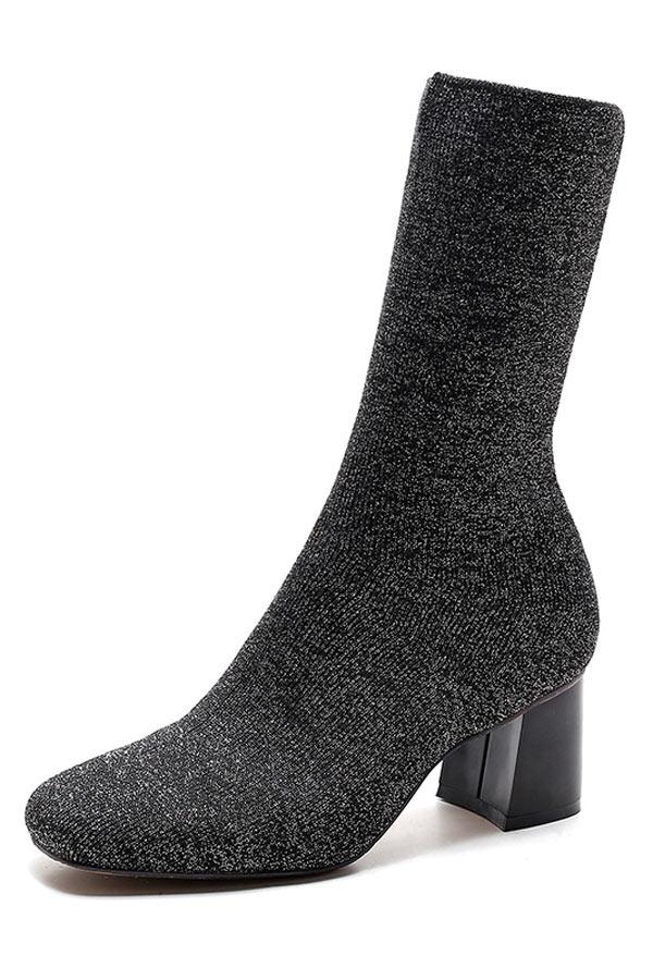 Bottines chaussettes femme à talon