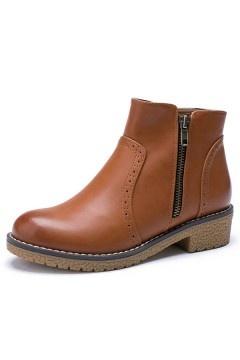 Low boots femme camel vintage