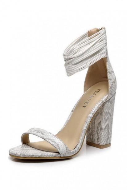 Sexy sandales bohème serpentines avec brides fines