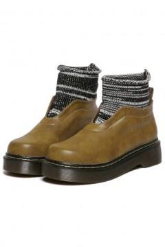 Bottines chaussettes femme vintage à plateforme
