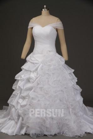 Robe de mariée princesse à bretelles effet bustier