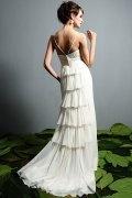Etui Linie Herz Ausschnitt Blume Chiffon Brautkleid