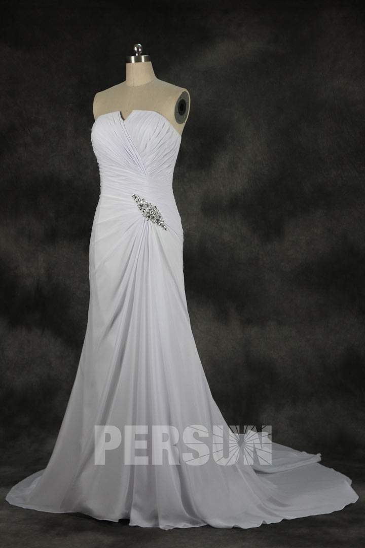 wedding dresses for men ruched beading strapless chiffon a line wedding 9328