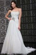 Chic A-Linie Trägerloses Empire Brautkleider aus Chiffon