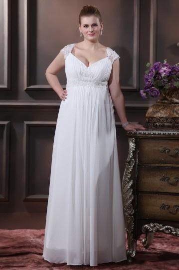 Robe de mariée grande taille empire ligne-