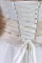 Robe de mariée Empire ligne A à bustier appliqué & rebrodé de bijoux