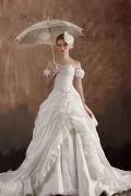 Graceful Sweetheart Ruffles Beading Taffeta Wedding Dress