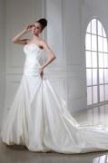 Meerjungfrau Herz-Ausschnitt Ärmelloses Brautkleider aus Satin mit Schnürung