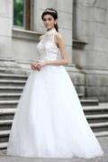 Robe de mariée princesse en tulle à un corsage ajouré