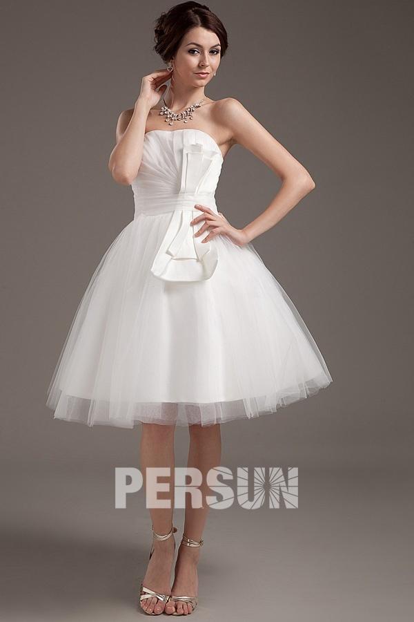 the latest good texture los angeles Mini robe de mariée simple bustier en tulle Empire – Persun.fr