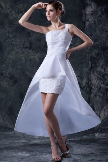 robe de mariée courte devant longue derrière asymétrique